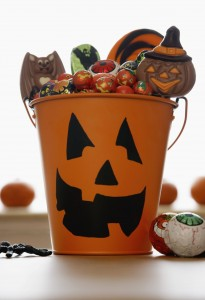 Pail Full of Halloween Candy
